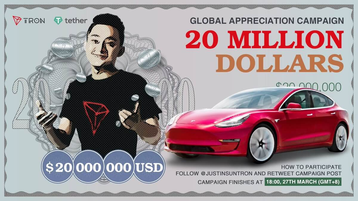 Justin Sun | Controversy | Tron | Give Away  | Telsa