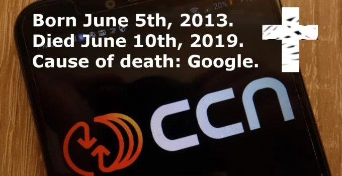 CCN | Shuts Down | Cryptocurrency News | Google Update