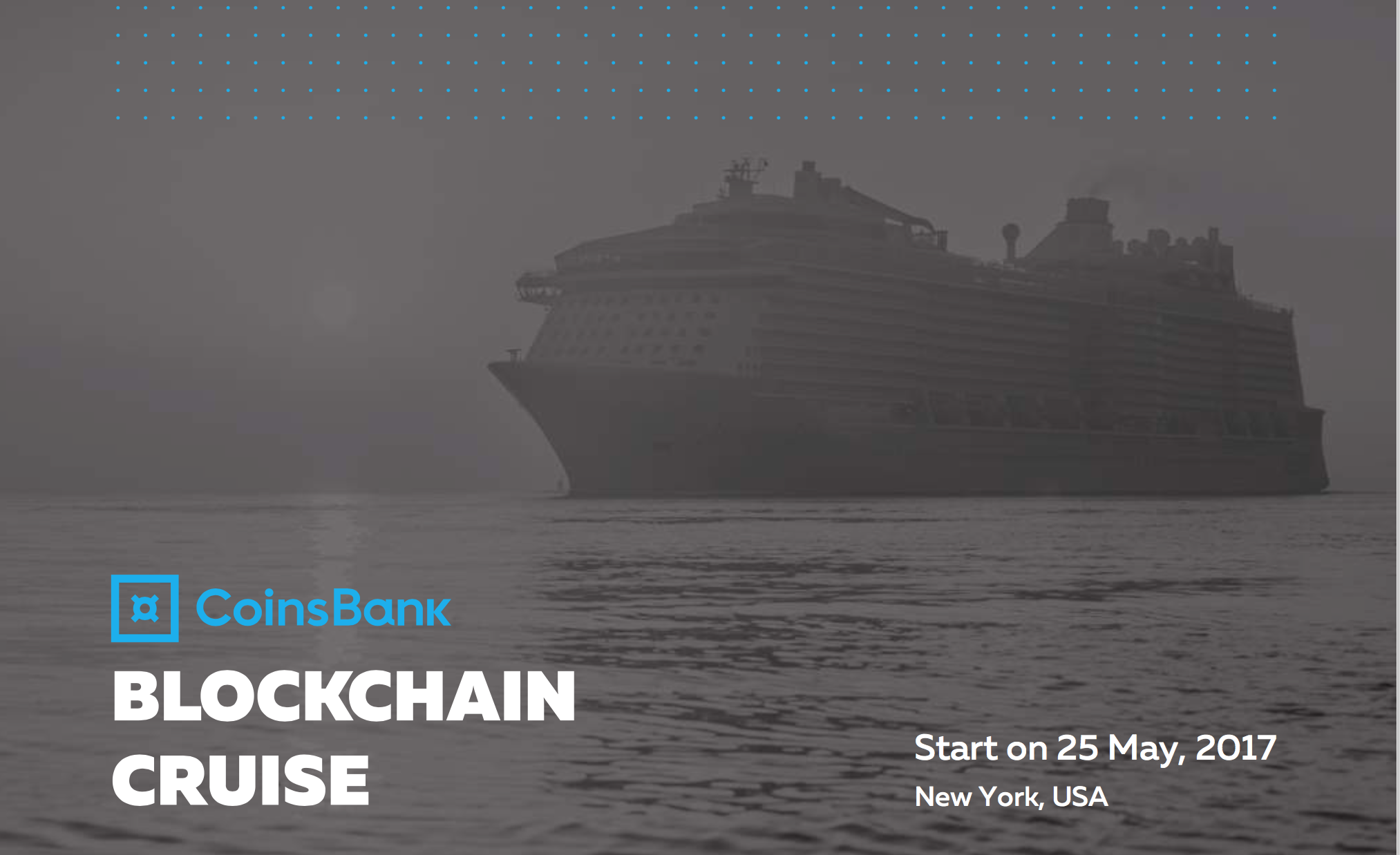 coins bank organizes blockchain conference cruise