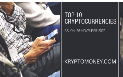 Top Ten Cryptocurrency List As On 26 November 2017