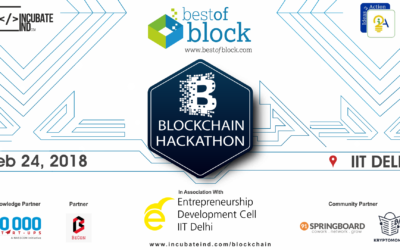 Blockchain Hackathon at IIT Delhi on 24 February 2018