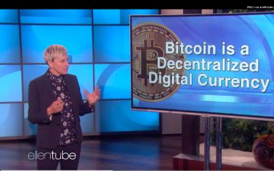 Popular US Comedian And Talk Show Host  Ellen DeGeneres Talks About Bitcoins