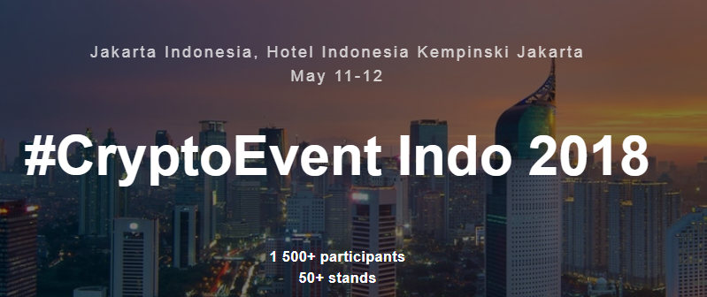 CryptoEvent Indo in Jakarta from 11-12th May