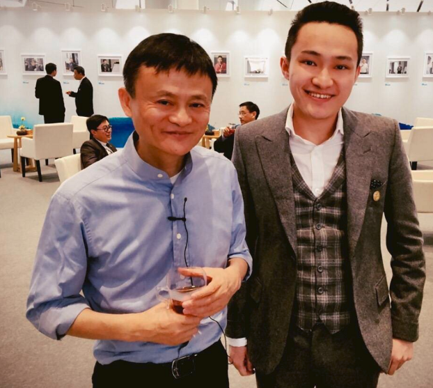 jack ma and justin sun | alibaba and tron