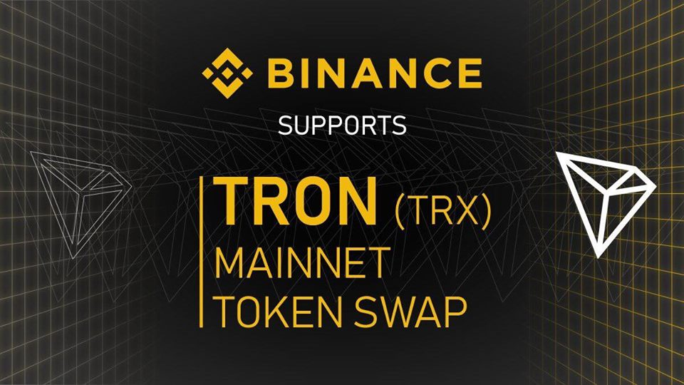 Binance To Support TRON For Blockchain Upgrade and Token Migration