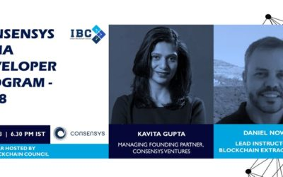 Join ConsenSys India Webinar hosted by Indian Blockchain Council on 9th May