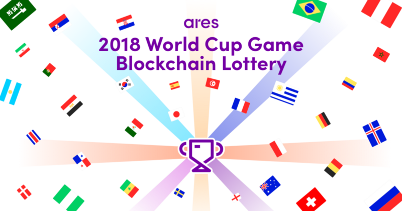 Ares Tech Launches a 2018 World Cup Game Blockchain Lottery!