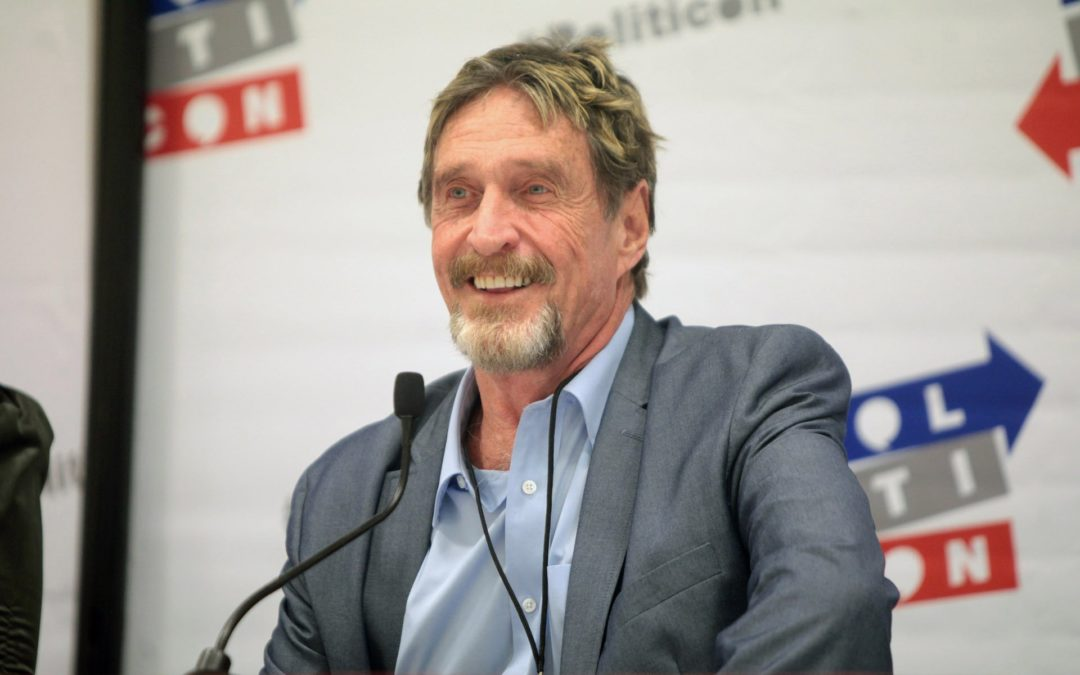 Crypto Shill John McAfee Won't Promote ICO's Due to 'SEC Threats'