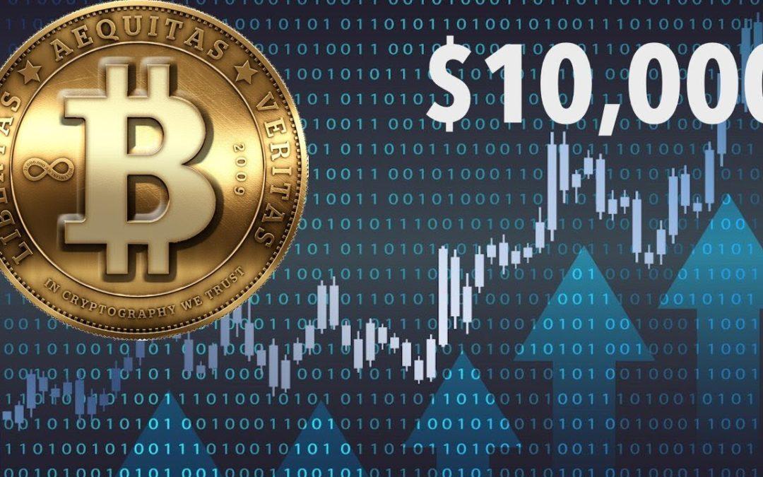 Bitcoin Price Rallies, Bitcoin Bulls Set A $10000 Mark