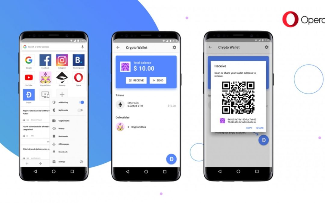 Opera is Now Testing Ethereum Wallet in Its Android Mobile Browser