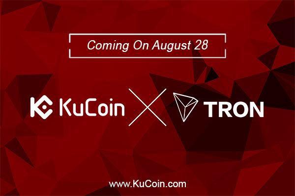 KuCoin Cryptocurrency Exchange Lists TRON (TRX) Cryptocurrency