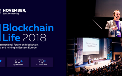 Blockchain Conference: Blockchain Life 2018, SAINT PETERSBURG RUSSIA