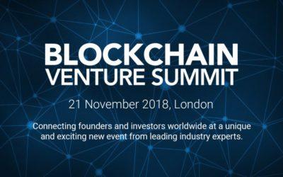 Blockchain Conference: Blockchain Venture Summit 2018 London