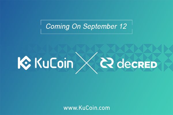 KuCoin Cryptocurrency Exchange Lists Decred (DCR)