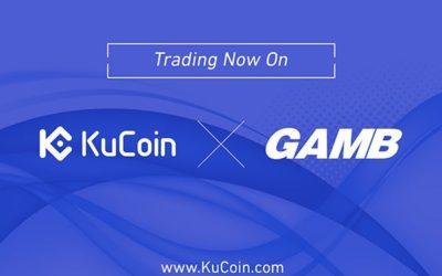KuCoin Cryptocurrency Exchange Lists GAMB (GMB) Cryptocurrency
