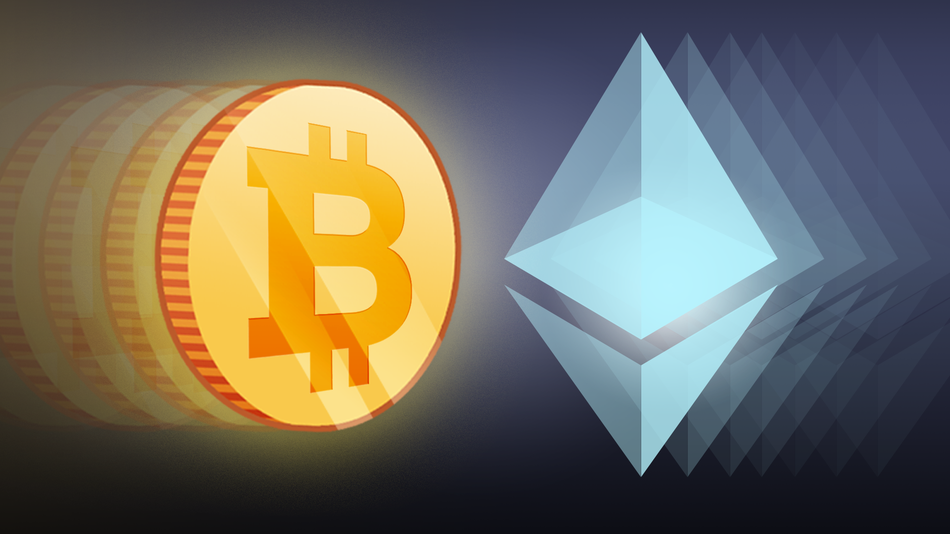 bitcoin and ethereum logo
