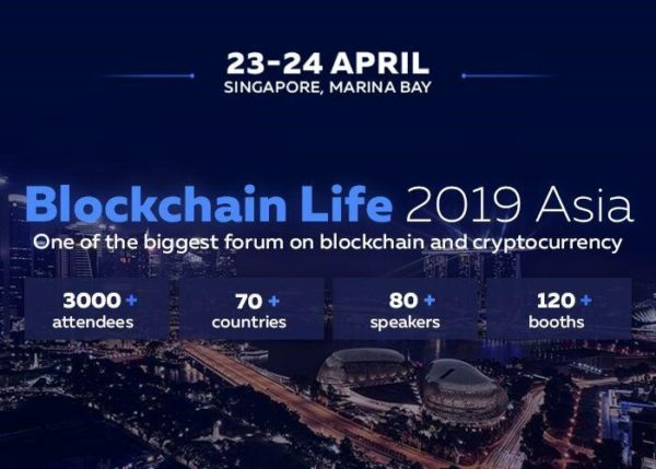 Blockchain Life 2019 23-24 April, Marina Bay, Singapore