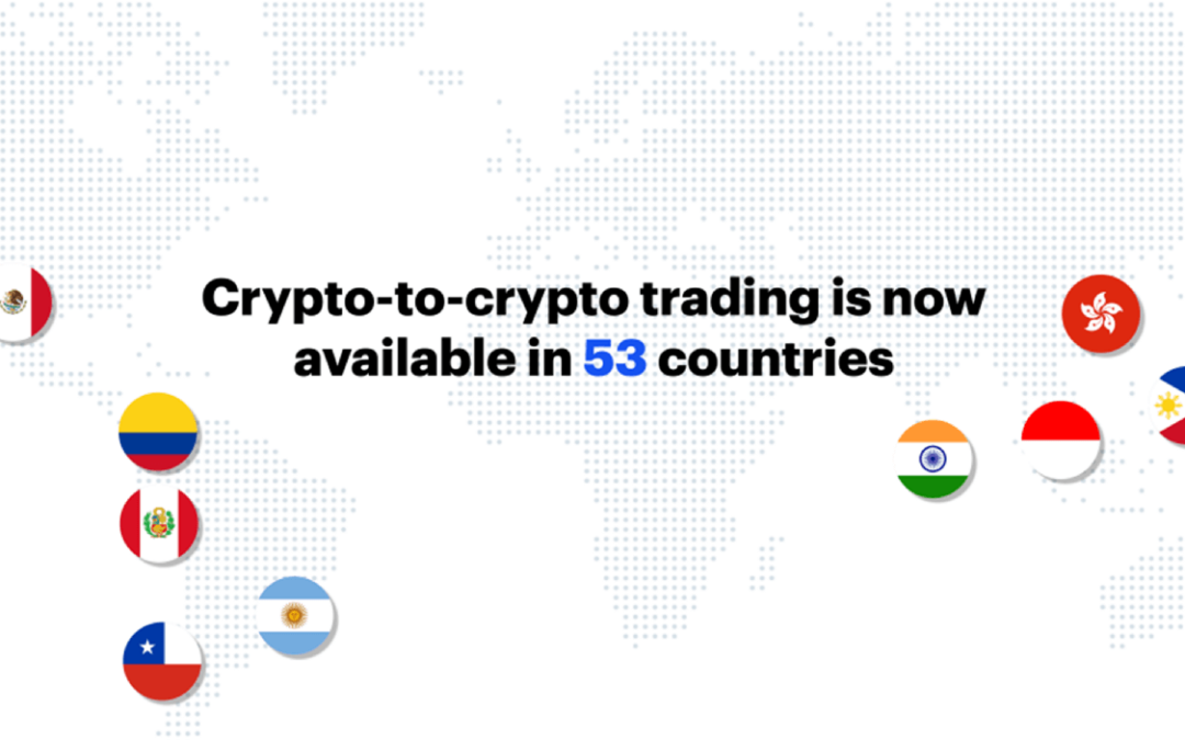 Coinbase Expands Crypto-to-Crypto Trading To 11 More Countries