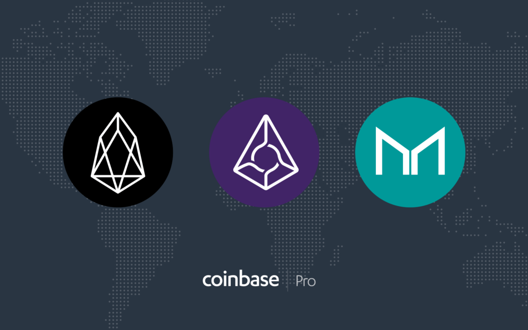 Coinbase Pro Adds Support For EOS, Augur and Maker
