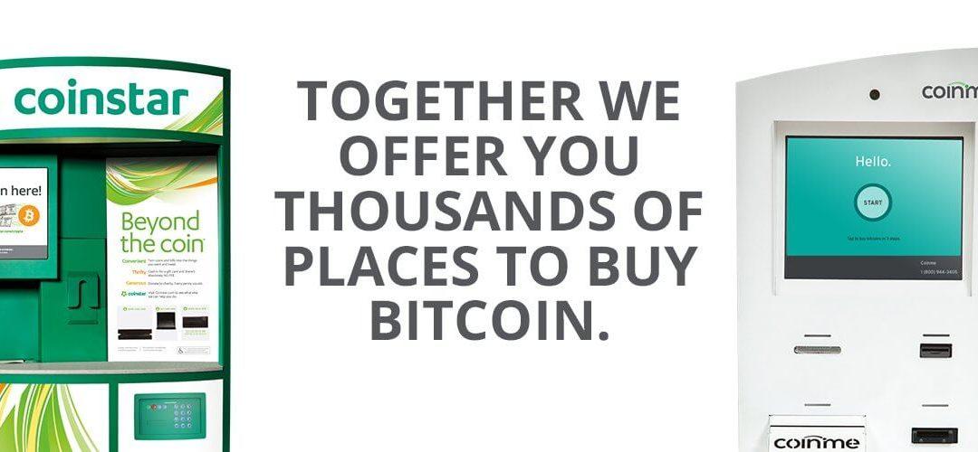 Coinme and Coinstar Jointly Spread Over 2,100+ Bitcoin (BTC) Kiosks Spread Across The U.S