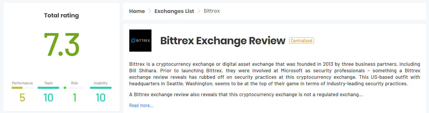 complete list of cryptocurrency exchanges