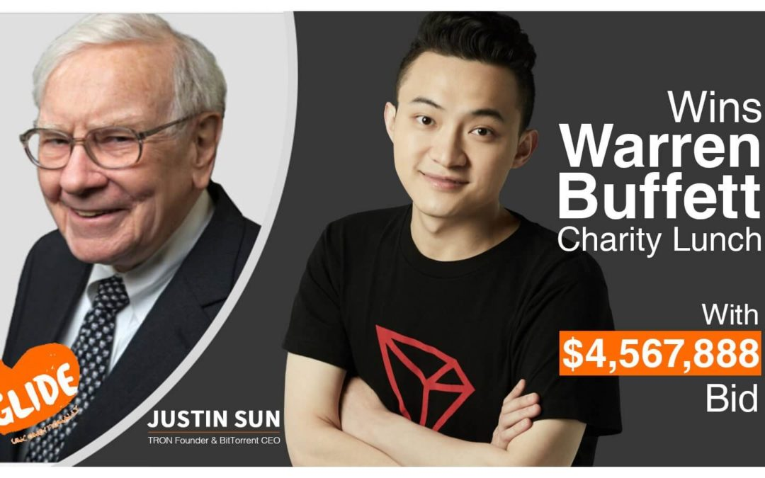 Justin Sun Wins A Lunch With Warren Buffett In An eBay Charity Auction