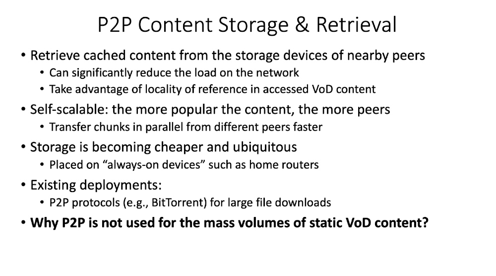 P2P Content Storage & Retrieval